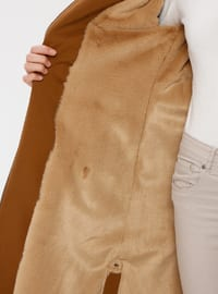 Tan - Fully Lined - Point Collar - Coat