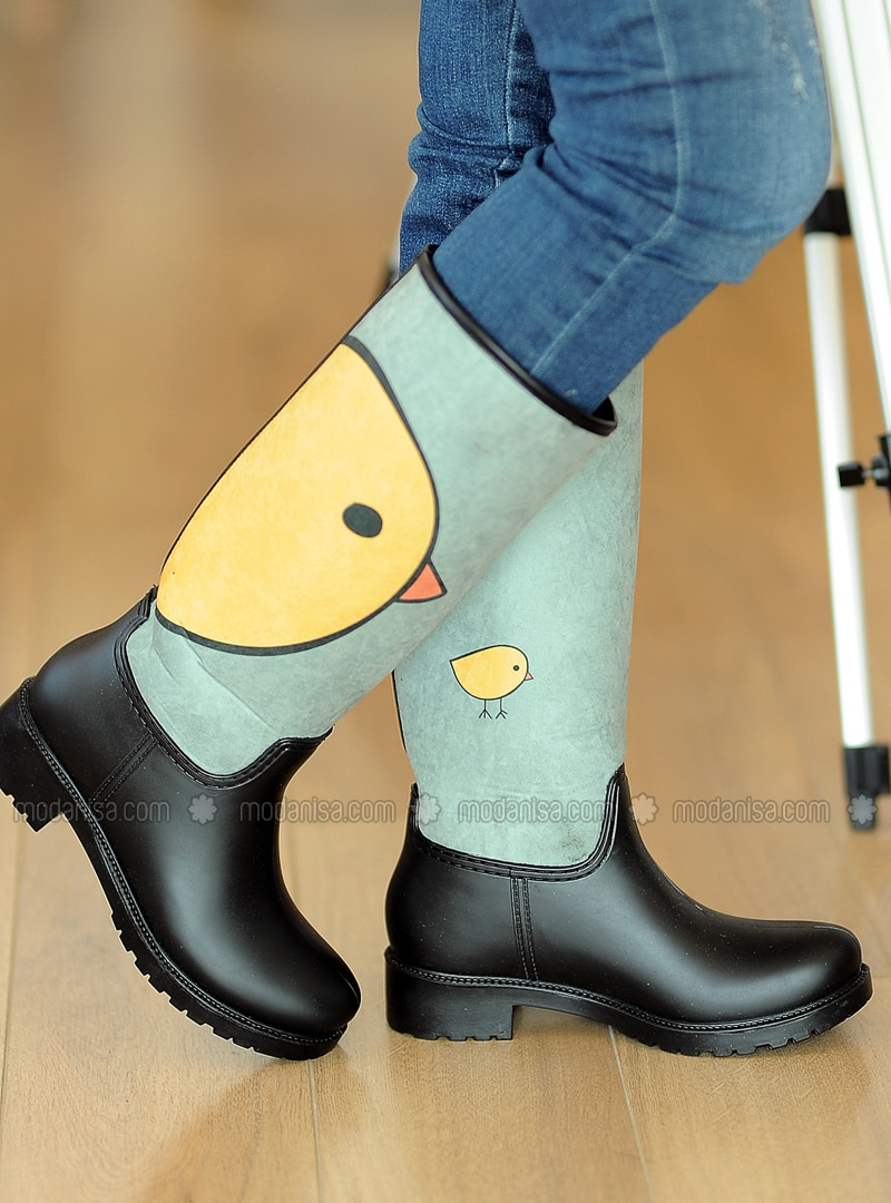 Black - Yellow - Boot - Boots