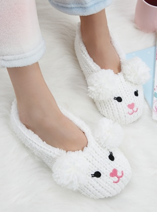 White - Sandal - Slippers - TWIGY