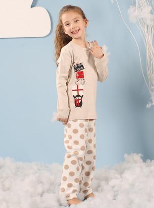 Multi - Crew neck - Multi - Kids Pijamas - Siyah inci