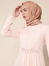 Powder - Unlined - Crew neck - Muslim Evening Dress