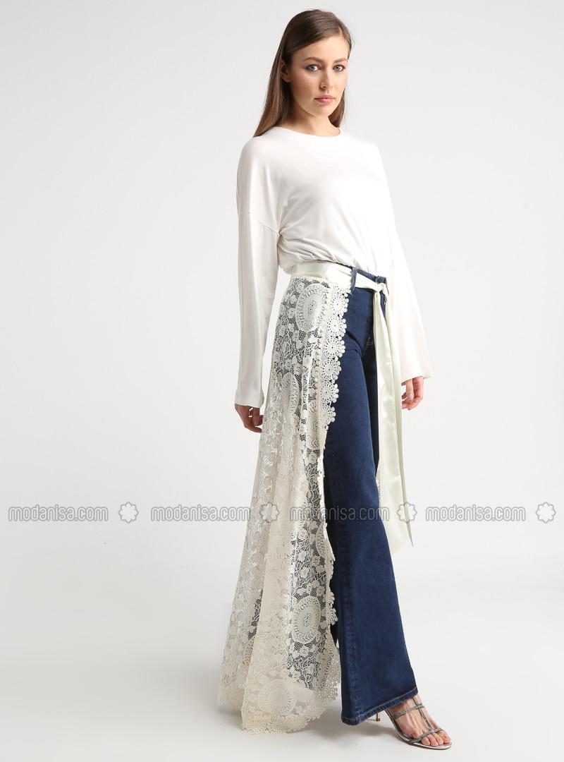 Cream - Unlined - Skirt