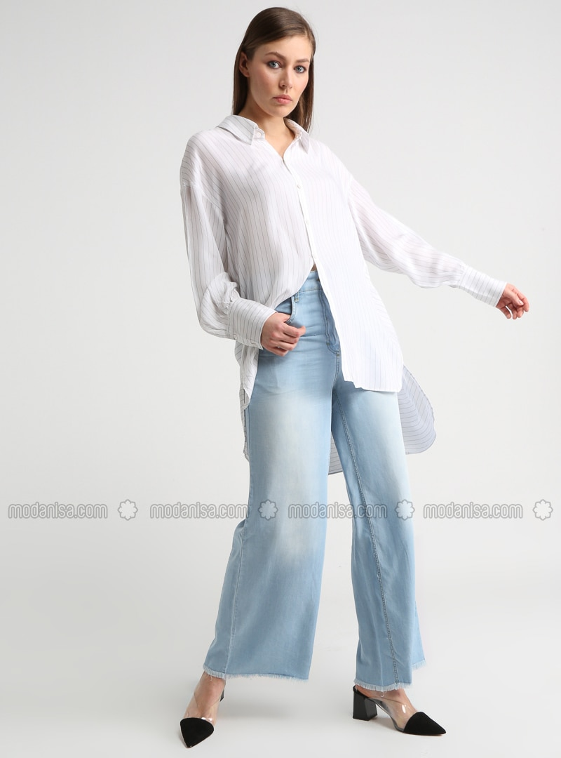 Blue - Denim - Pants