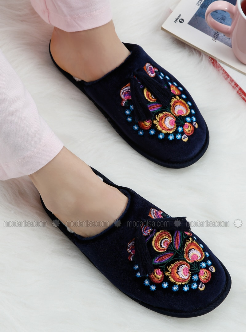Navy Blue - Sandal - Home Shoes - TWIGY