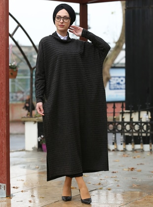 Smoke-coloured -  - Poncho - İnşirah