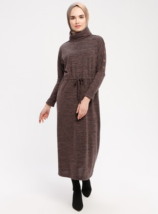 Anthracite - Polo neck - Unlined - Dresses