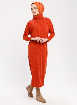 Terra Cotta - Polo neck - Unlined - Dresses