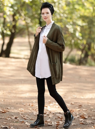 Khaki - Acrylic -  - Jacket