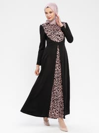Black - Powder - Ethnic - Unlined - Polo neck - Muslim Evening Dress