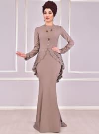 Minc - Unlined - Crew neck - Muslim Evening Dress