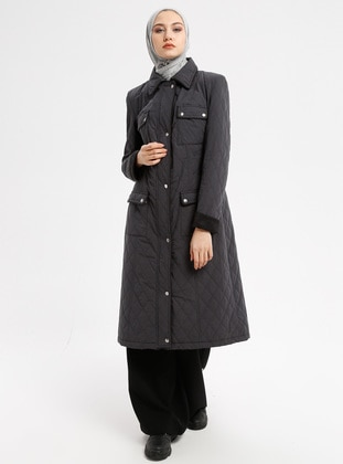 Anthracite - Fully Lined - Point Collar - Coat