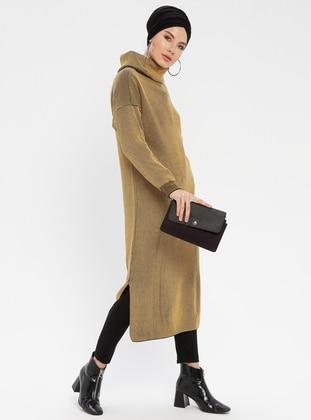 Camel - Polo neck - Acrylic -  - Tunic