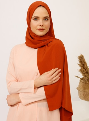 Terra Cotta - Plain - Shawl -  Şal
