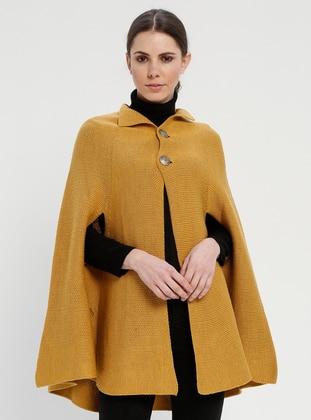 Mustard - Acrylic -  - Poncho - Meliana