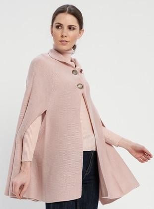 Pink - Acrylic -  - Poncho - Meliana