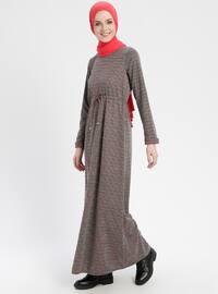Terra Cotta - Multi - Crew neck - Unlined - Dresses