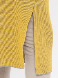 Yellow - Polo neck - Acrylic -  - Tunic