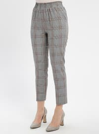 Black - Tan - Plaid - Pants