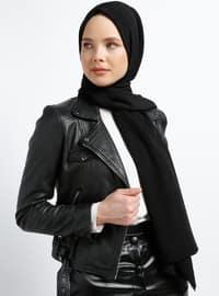 Black - Plain - Shawl - Şal