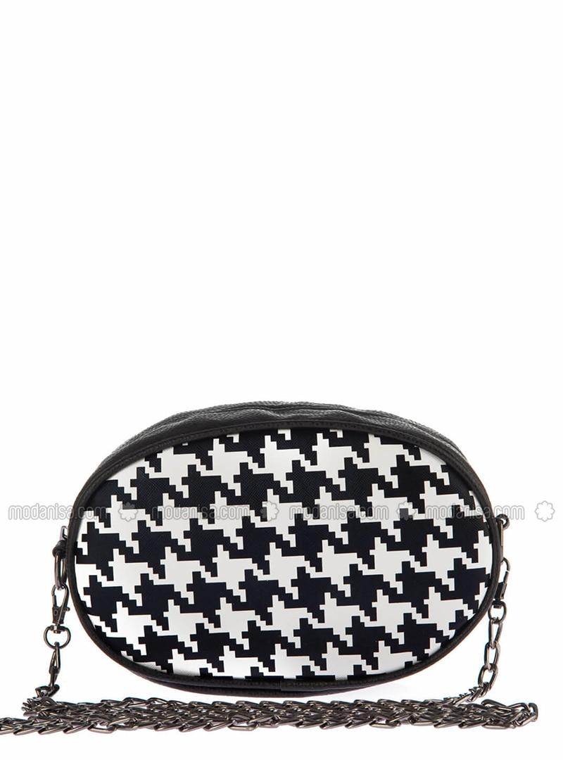 Black - White - Clutch - Bum Bag