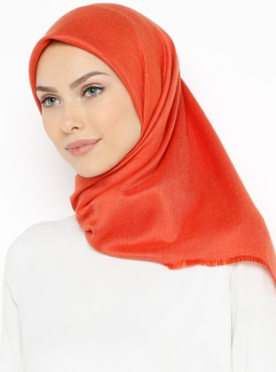Orange - Plain - Scarf