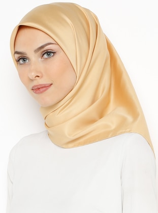Golden tone - Plain - Twill - Scarf
