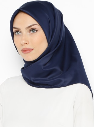 Navy Blue - Plain - Twill - Scarf