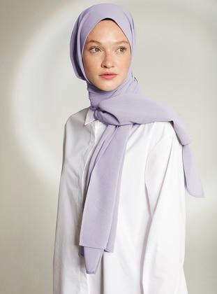 Lilac - Plain - Crepe - Shawl