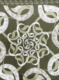 Olive Green - Printed - Scarf