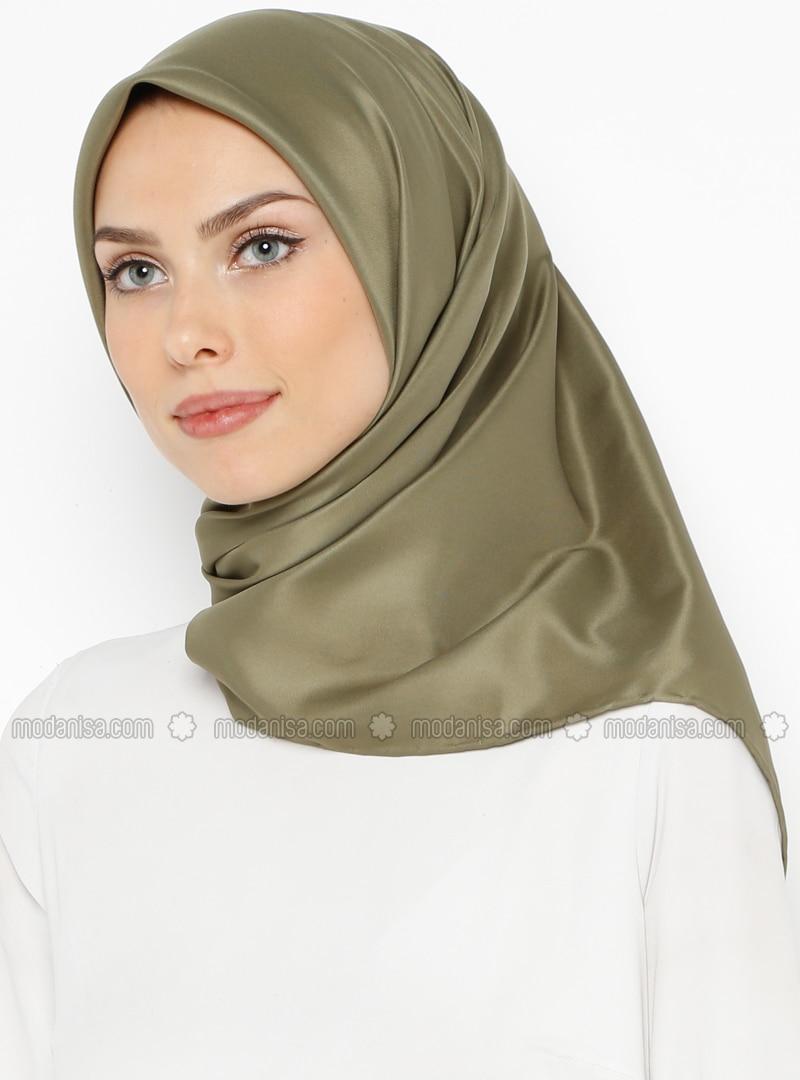 Khaki - Plain - Twill - Scarf