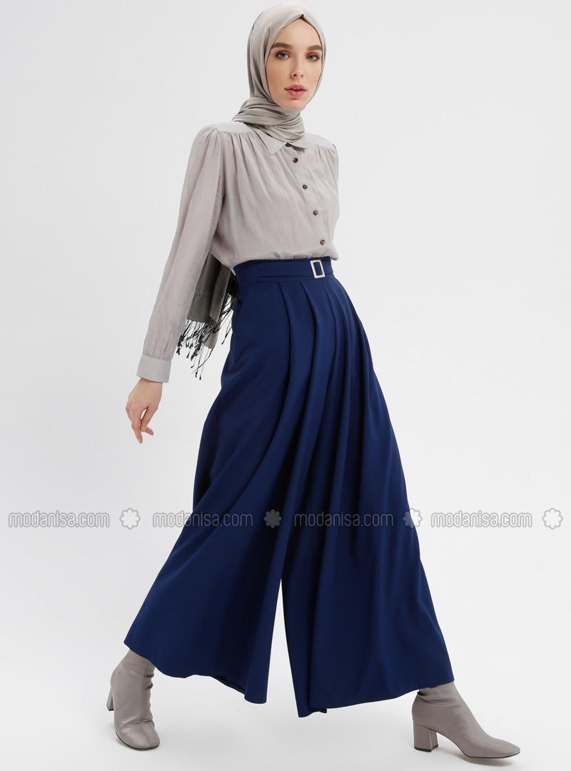 Blue - Navy Blue - Indigo - Culottes