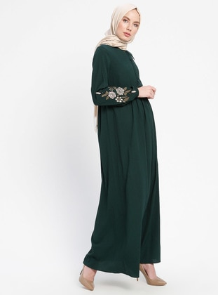 Green - Emerald - Crew neck - Unlined - Dresses - ELİT LİFE