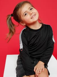 Unlined - Crew neck - Black - Age 8-12 Blouse