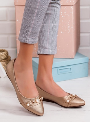 Golden tone - Flat - Flat Shoes