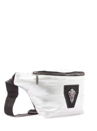 Silver tone - Clutch - Bum Bag