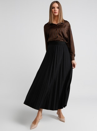 Black - Fully Lined - Skirt