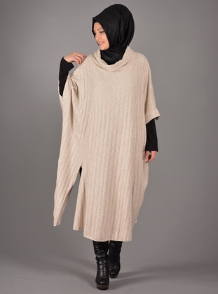 Cream - Unlined - Poncho