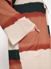 Khaki - Terra Cotta - Unlined - Plus Size Coat
