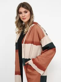 Khaki - Terra Cotta - Unlined - Plus Size Coat