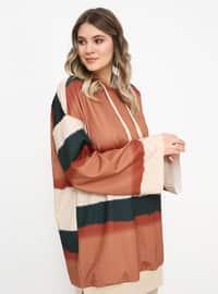 Khaki - Terra Cotta - Plus Size Tunic