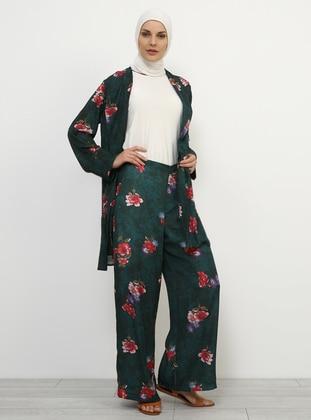Green - Floral - Culottes