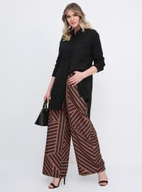 Multi - Stripe - Plus Size Pants