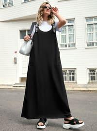 Black - Unlined - Plus Size Dress