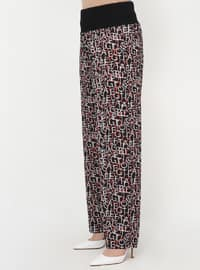 Black - Multi - Plus Size Pants