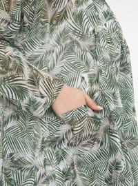 Green - Multi - Plus Size Coat