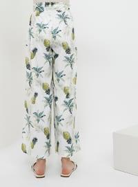 Green - White - Multi - Pants