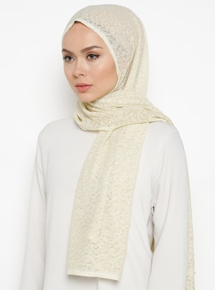 Yellow - Lace - Plain - Shawl