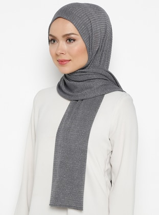 Gray - Plain -  - Shawl