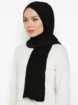 Black - Plain - Plaid - Shawl