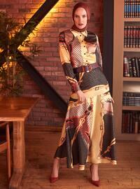 Black - Yellow - Multi - Unlined - Skirt